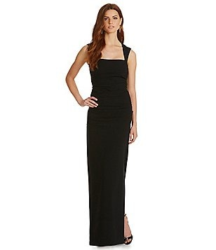 Nicole Miller Collection Felicity Techy Crepe Gown