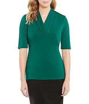 Alex Marie Elena Knit V-Neck Top