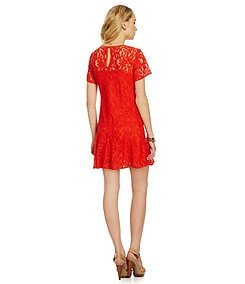 MICHAEL Michael Kors Paisley-Lace Godet-Skirt Dress
