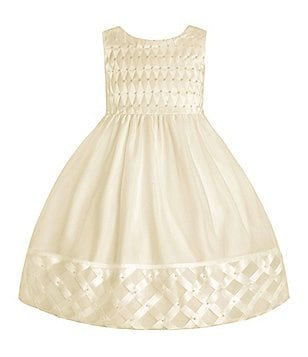 American Princess Little Girls 2T-6X Basketweave Dress