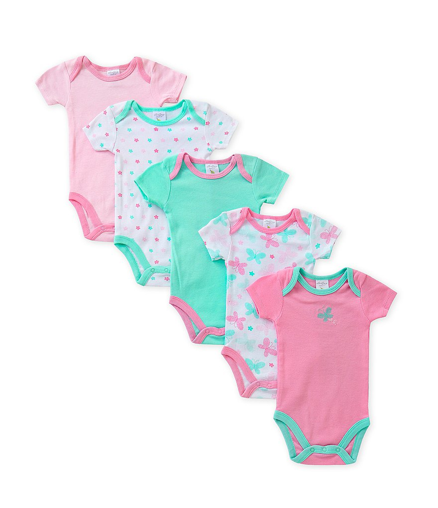 Starting Out Baby Girls Newborn-6 Months Butterfly Bodysuit 5-Pack