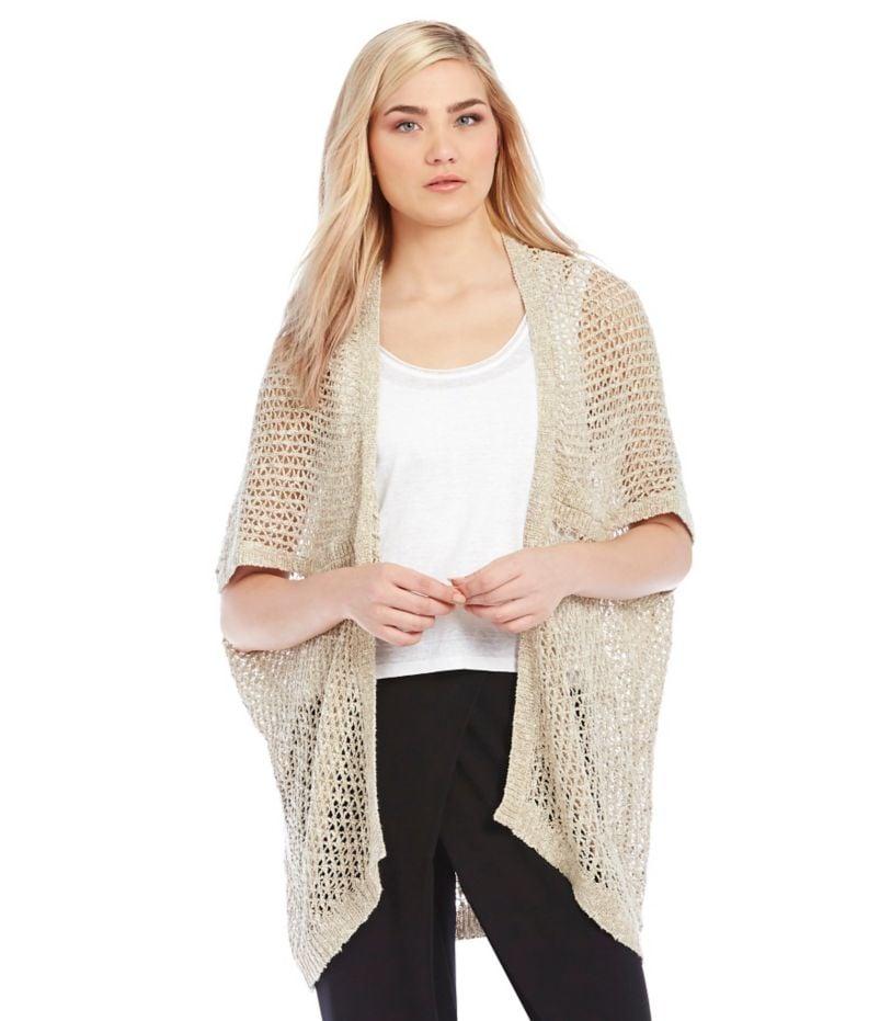 Eileen Fisher Petite Seed Knit Kimono Cardigan