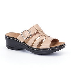 Clarks Lexi Alloy Slide Sandals