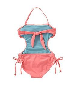 Jessica Simpson 7-16 Flounce-Ruffle Monokini
