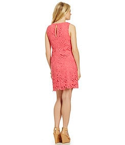 Jessica Simpson Lace Overlay Shift Dress