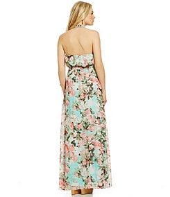 Jessica Simpson Floral-Print Blouson Maxi Dress