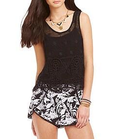Jessica Simpson McKenna Crochet Crop Top