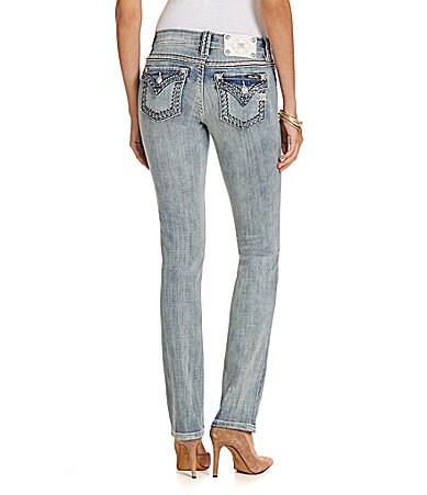 Miss Me Mid-Rise Straight-Leg Jeans