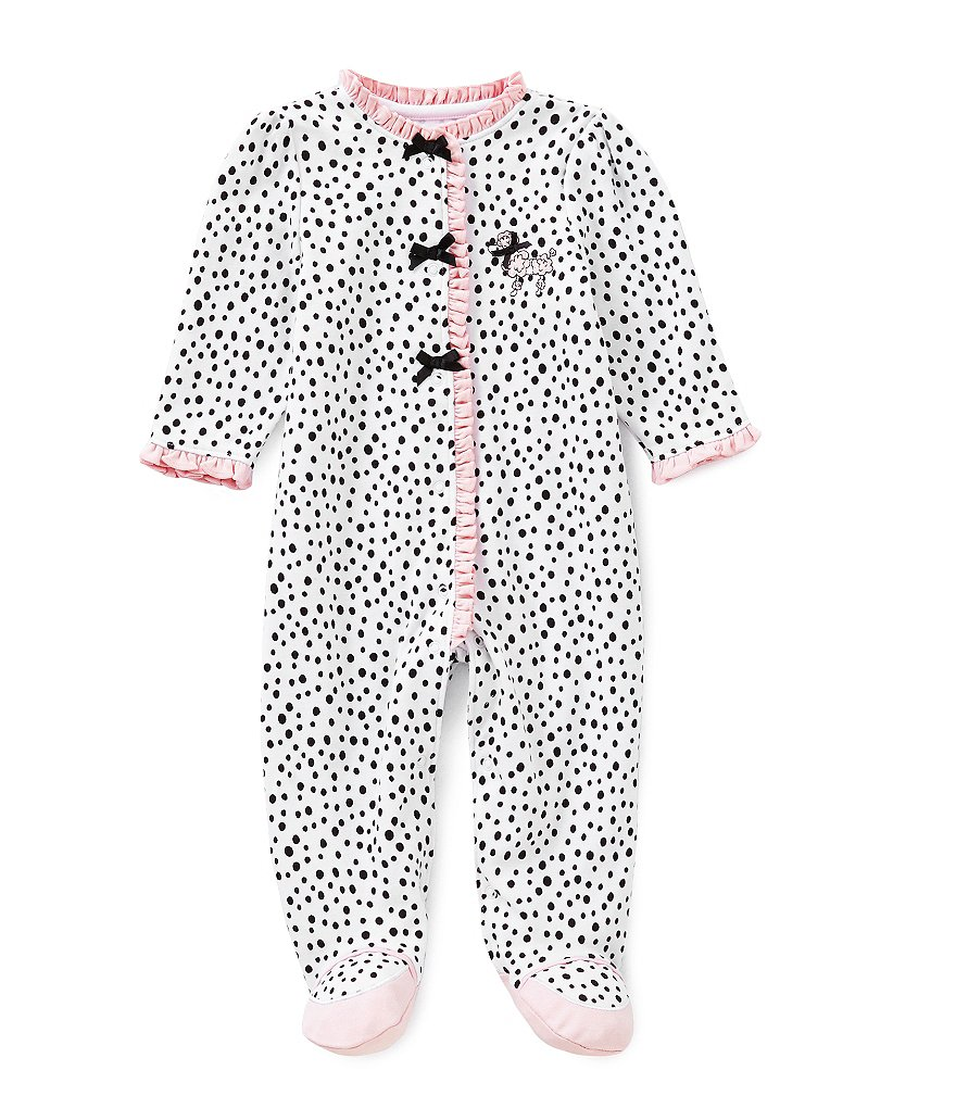 Little Me Newborn-9 Months Perfect Poodle Footed Coverall