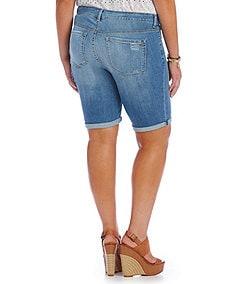 Jessica Simpson Plus Maxwell Roll-Up Bermuda Shorts