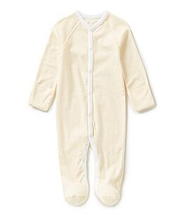 Ralph Lauren Childrenswear Newborn-6 Months Striped Footed Coverall Image