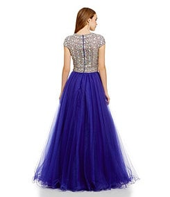 Glamour by Terani Couture Beaded-Bodice Ballgown