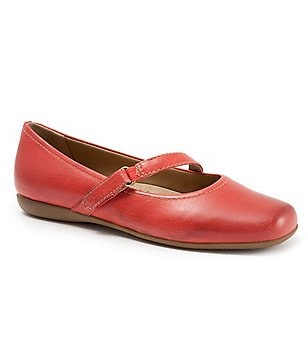 Trotters Simmy Strappy Leather Mary Jane Flats