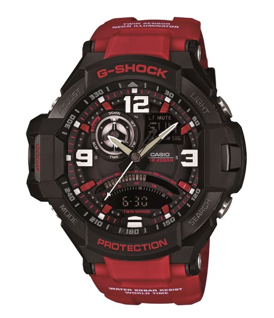 G-Shock Aviation Series Gravity Master Red Resin Ana/Digi Watch