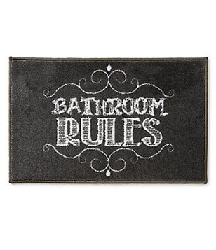 Avanti Linens Chalk It Up Bathroom Rules Bath Rug