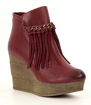 Sbicca Zepp Fringe Wedge Booties