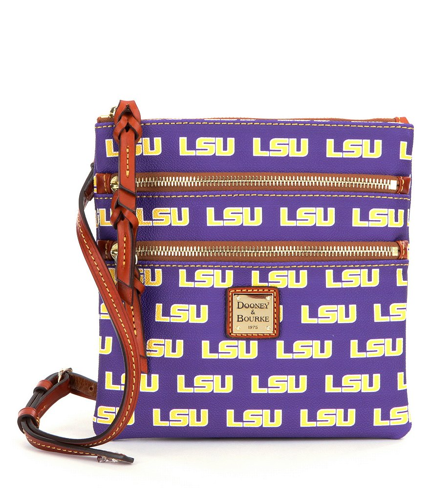 Dooney & Bourke Louisiana State University Triple-Zip Cross-Body Bag