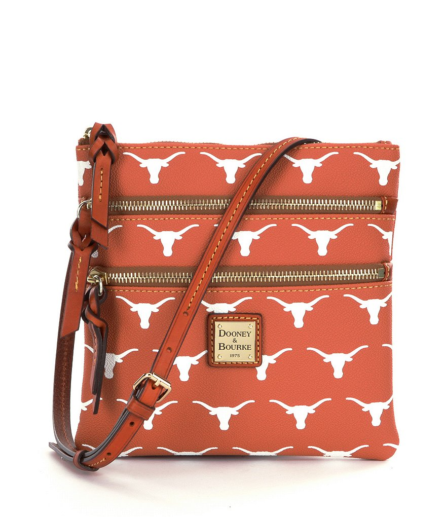 Dooney & Bourke University of Texas Triple-Zip Cross-Body Bag
