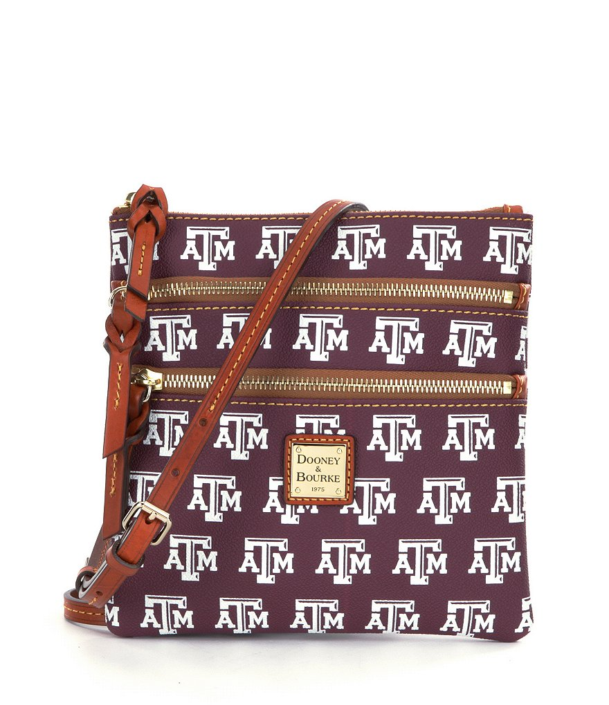 Dooney & Bourke Texas A&M University Triple Zip Cross-Body Bag