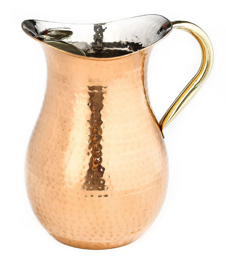 Old Dutch Hammered Copper & Brass Water Pitcher