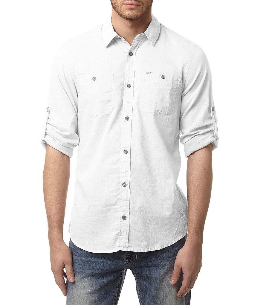 Buffalo David Bitton Sierra Long-Sleeve Solid Shirt