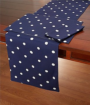 kate spade new york Charlotte Street Reversible Dotted Cotton Table Linens