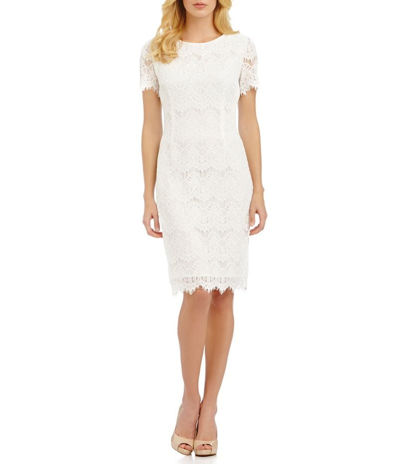 Dkny White Lace Dress Images