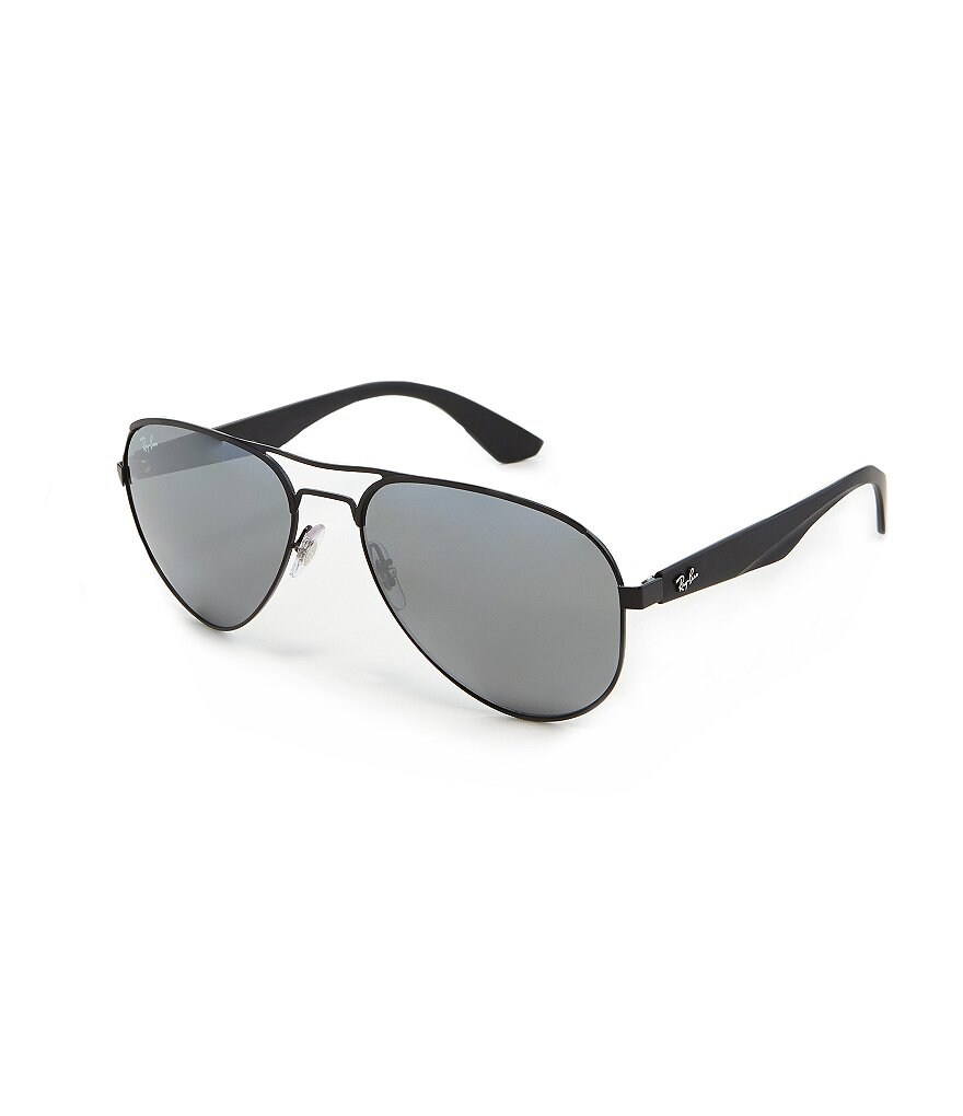 Ray-Ban Highstreet Collection Mirror Lens Pilot Aviator Sunglasses