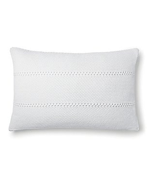 Ralph Lauren Sandstone Seed-Stitched Cotton Oblong Pillow