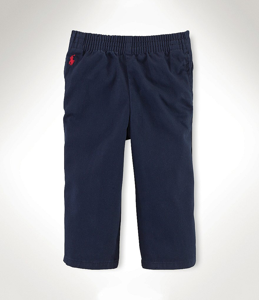 Ralph Lauren Childrenswear Baby Boys 3-24 Months Flat-Front Pull-On Pants