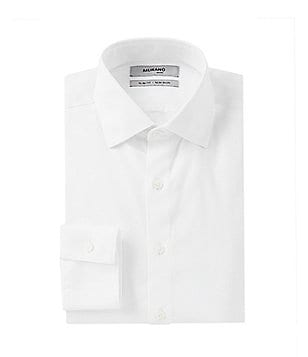 Murano Non-Iron Slim-Fit Spread-Collar Solid Dress Shirt