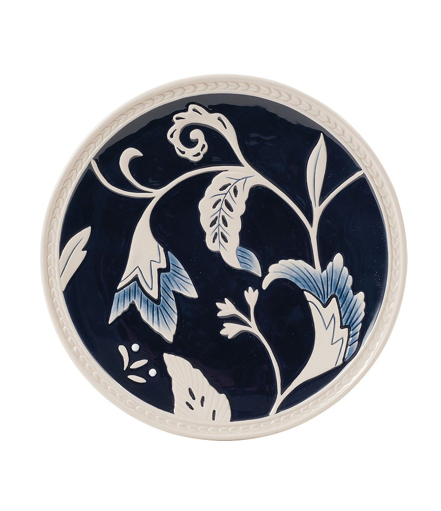 Fitz and Floyd Bristol Rustic Floral Stoneware Salad Plate
