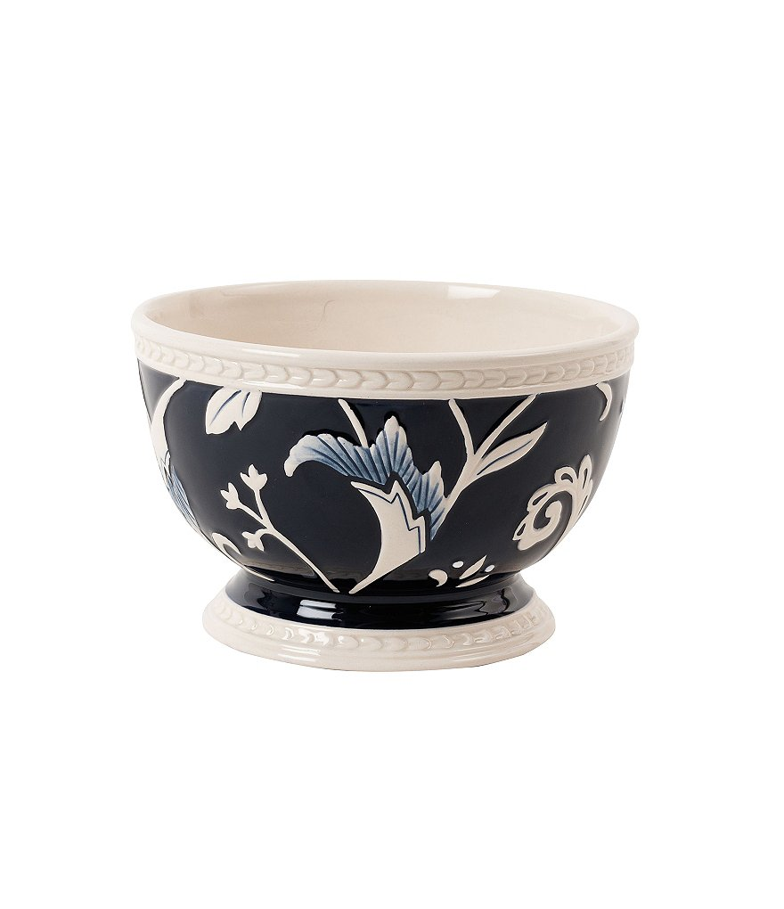 Fitz and Floyd Bristol Rustic Floral Stoneware Soup Bowl