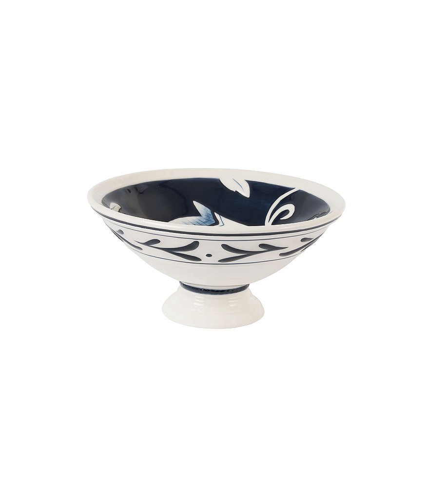 Fitz and Floyd Bristol Floral Footed Bowl