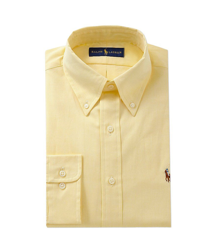 Polo Ralph Lauren Fitted Classic-Fit Button-Down Collar Dress Shirt