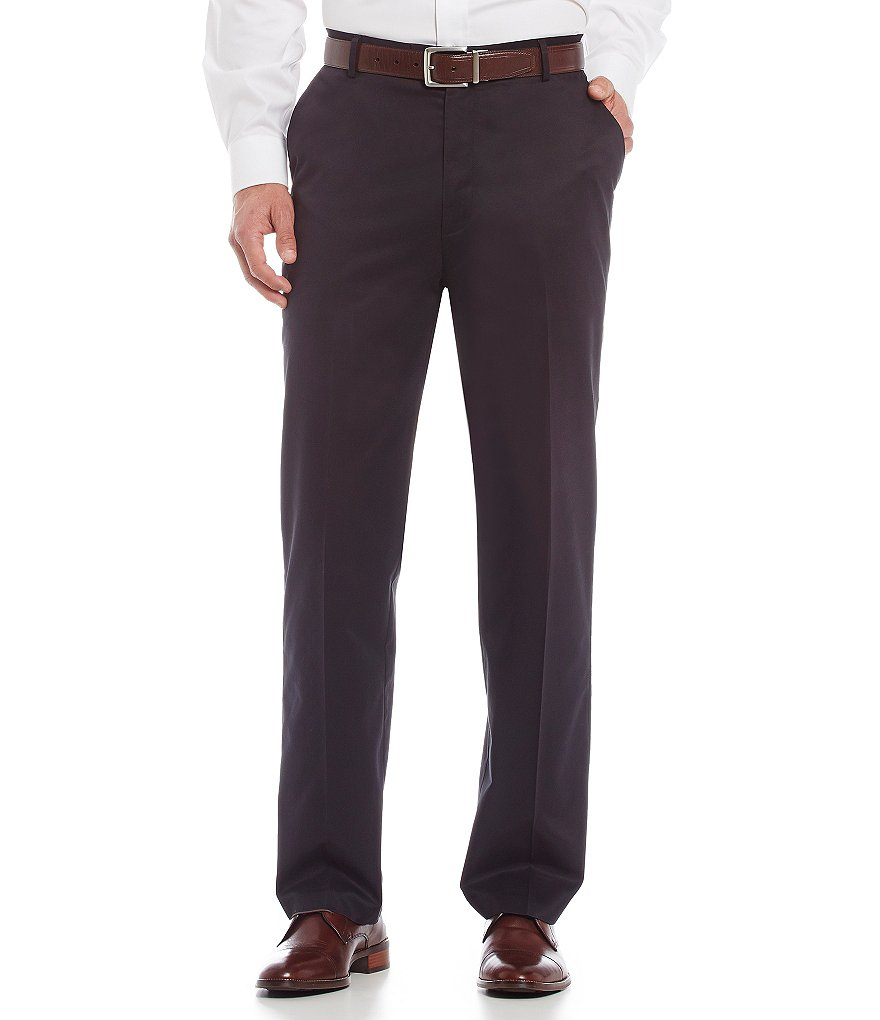 Gold Label Roundtree & Yorke Non-Iron 100 Percent Luxury Supima Cotton Flat Front Inno-Flex Pants