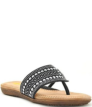 Volatile Temptress Asymmetrical Studded Sandals
