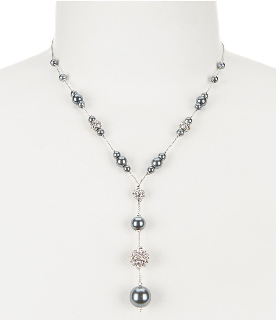 Cezanne Pearl, Pavé and Fireball Y-Necklace