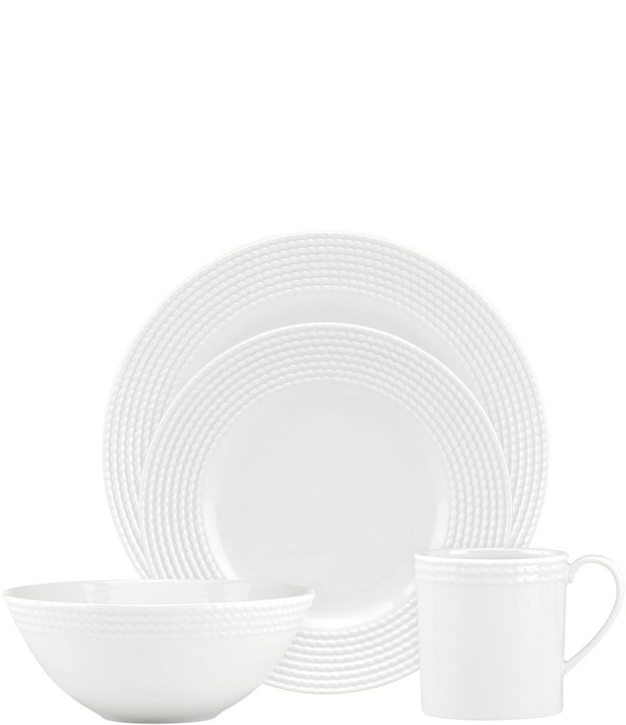 kate spade new york Wickford Rope Porcelain 4-Piece Place Setting