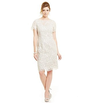 Alex Evenings Lace Shift Dress