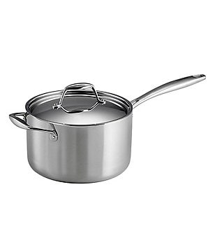 Southern Living Stainless Steel 4-Quart Sauce Pan with Helper Handle