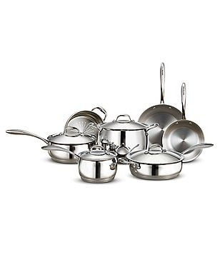 Southern Living 11-Piece Stainless Steel Tri-Ply Cookware Set