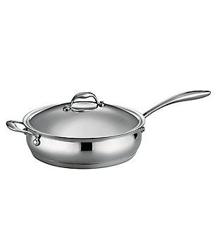 Southern Living Stainless Steel Tri-Ply 5-Quart Covered Saute Pan