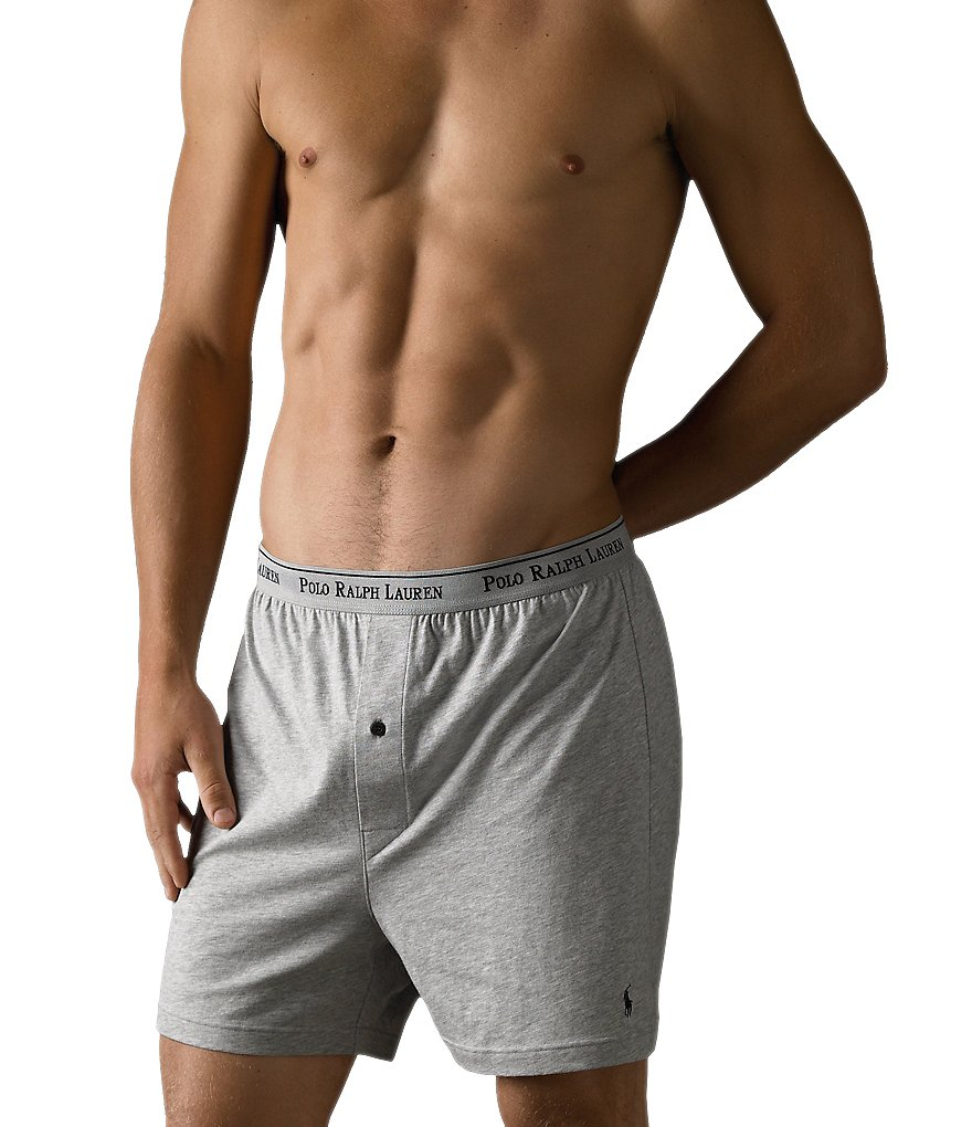 Polo Ralph Lauren Classic-Fit Cotton Knit Boxer Assorted 3-Pack
