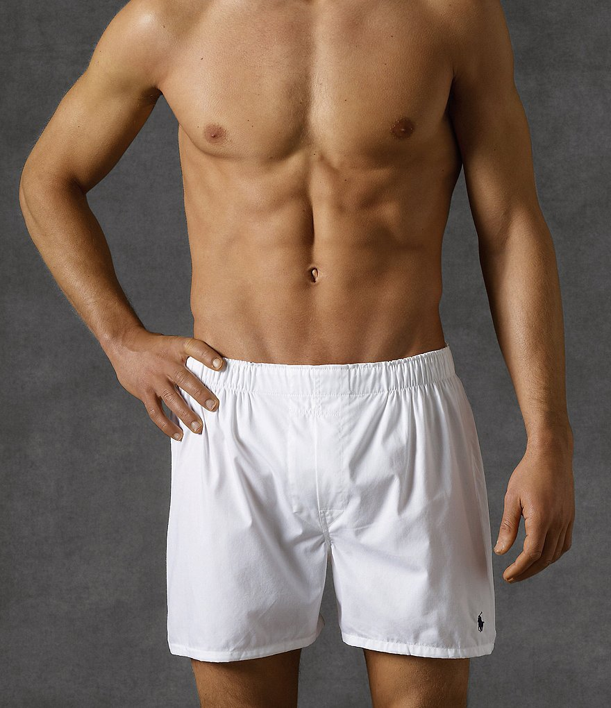 Polo Ralph Lauren Classic-Fit Cotton Woven Boxers 3-Pack