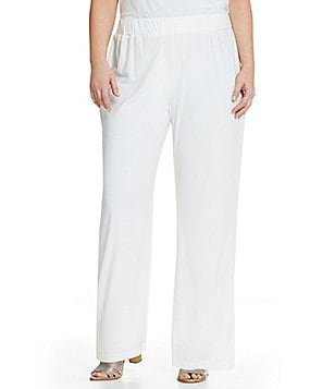 IC Collection Plus Lined White Pants