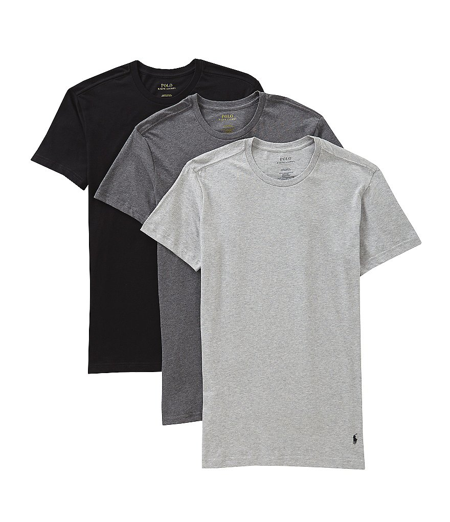 Polo Ralph Lauren Slim-Fit Cotton Crew Assorted 3-Pack