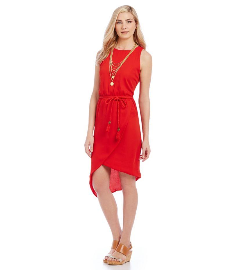 Red dress at dillards