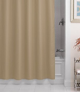 Noble Excellence Pierce Microfiber Shower Curtain Liner
