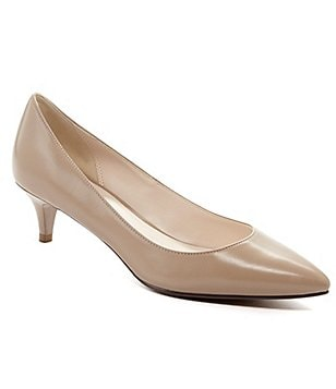 Cole Haan Juliana Pointed-Toe Kitten Pumps